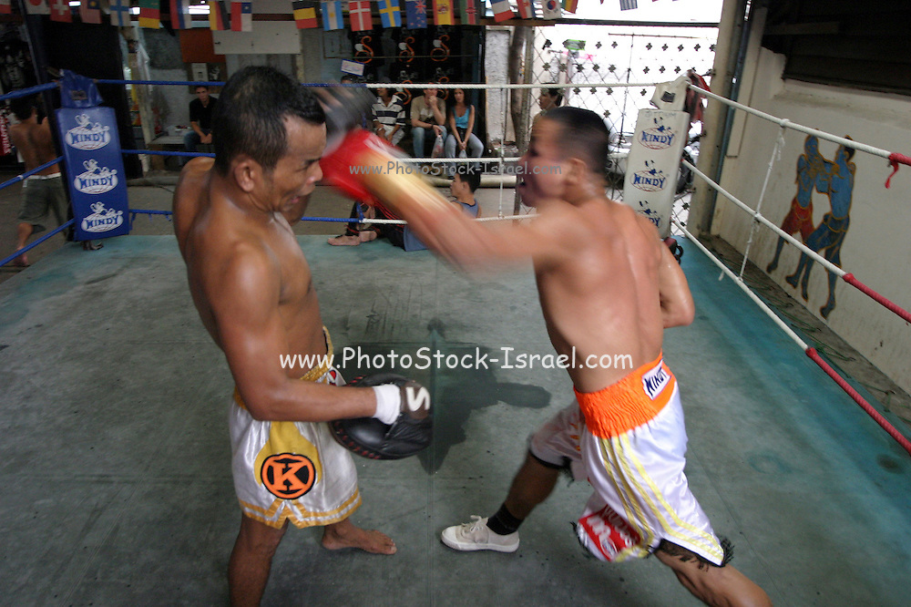 Thailand, Bangkok, a Thai boxing, kick boxing tournament