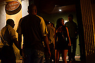 The entrance to Club Elektra, a club where men go to pick up prostitutes in the historic district in Cartagena, Colombia.  A sex scandal erupted recently when secret service agents were found bringing prostitutes to their hotel rooms while in Cartagena preparing for President Barack Obama's arrival to the Summit of the Americas.