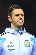 Martin Demichelis of Argentina - Argentina vs. Portugal - International Friendly - Old Trafford - Manchester - 18/11/2014 Pic Philip Oldham/Sportimage