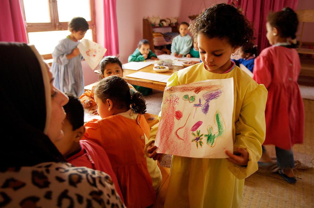 Egypte, Belbeis, 6 mei 2007..Sekem.   School.. ..Foto: (c)Michiel Wijnbergh.