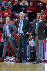 03 December 2016:  Chris Harriman, Craig Neal, and Terrence Rencher during an NCAA  mens basketball game between the New Mexico Lobos the Illinois State Redbirds in a non-conference game at Redbird Arena, Normal IL