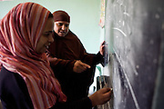 Women learn new skills through the a NHASD Program, in Egypt. They are taught vocational and practical skills, such as, baking, teaching and carpentry. This gives them the opportunity to earn money in the future, which is crucial as poverty is becoming more widespread in rural areas of Upper Egypt, and especially and among female-headed households.