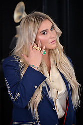 Kesha attends the 60th Annual GRAMMY Awards at Madison Square Garden on January 28, 2018 in New York City. Photo by Lionel Hahn/ABACAPRESS.COM