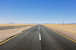 Straight road at Namib desert, Namibia, Africa