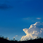 Detail of clouds . Mexico.