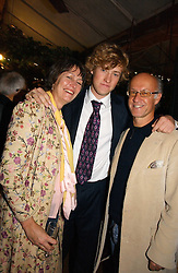 ROGER & MONTY SAUL with their son FREDDIE SAUL at a party to celebrate the publication on 'A Year in My Kitchen' by Skye Gyngell held at The Petersham Nurseries, Petesham, Surrey on 19th October 2006.<br /><br />NON EXCLUSIVE - WORLD RIGHTS