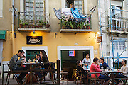 Al fresco restaurant at Castelo (Castle) district in Lisbon.