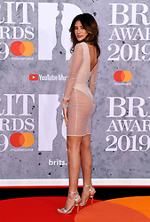Montana Brown attending the Brit Awards 2019 at the O2 Arena, London. Photo credit should read: Doug Peters/EMPICS Entertainment. EDITORIAL USE ONLY