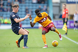 half time : Dundee 0 v 0 Motherwell, SPFL Ladbrokes Premiership game played 1/9/2018 at Dundee's Kilmac stadium Dens Park