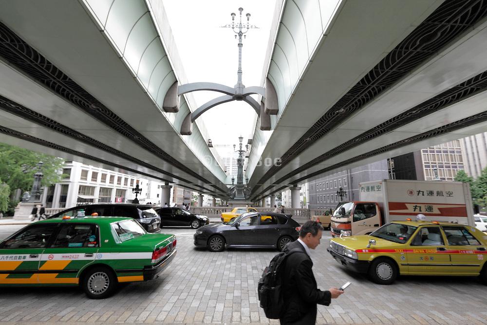 Expressway going over the Nihonbashi Bridge at Kilometer zero Tokyo Japan