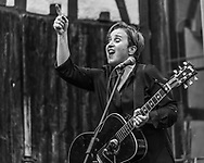 Katharina Franck, frontwoman of legendary German indie band Rainbirds, with a solo gig at Kirchbergforum in Lollar