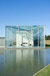 Langen Foundation art museum designed by Tadao Ando at Museum Insel at Hombroich in Neuss in Germany