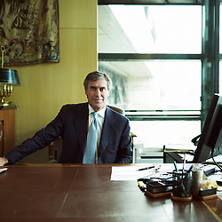 PARIS, FRANCE. JULY 30, 2012. Jérome Cahuzac, Junior Minister for the Budget at the Ministry of the Economy, Finance, and External Trade, shot in his office. Photo: Antoine Doyen