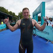 London, England, UK. 16th September 2017. Terry Bonnett first man winner - Swim Serpentine the London Classics 2 miles at Serpentine lake.