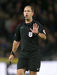 Match referee Jeremy Simpson
