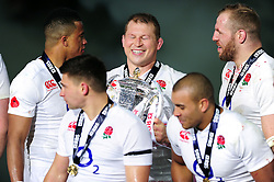 Dylan Hartley of England is all smiles after the match - Mandatory byline: Patrick Khachfe/JMP - 07966 386802 - 19/03/2016 - RUGBY UNION - Stade de France - Paris, France - France v England - RBS Six Nations.