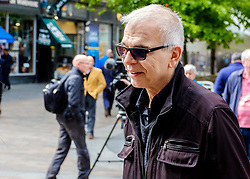 Record Producer Tony Visconti (Mark Bolan, Thin Lizzy, Morrisey, David Bowie) in Buchanan Street, Glasgow<br /> <br /> (c) Andrew Wilson | Edinburgh Elite media