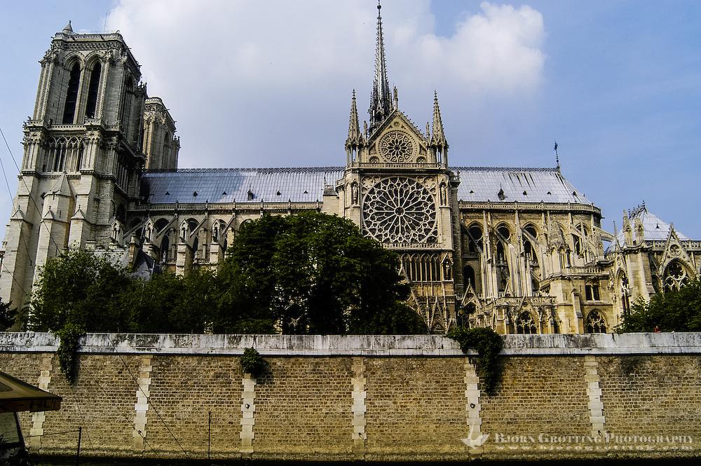 Notre Dame de Paris is a Gothic cathedral on the Île de la Cité island in Paris, France.