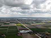 Nederland, Noord-Holland, Gemeente Wieringermeer, 16-04-2012. Zuidelijk deel Wieringermeer, gezien vanaf Kreileroord, links IJsselmeer..Wieringmeer polder,  newly created land 1927, part of the Zuiderzee Works..luchtfoto (toeslag), aerial photo (additional fee required);.copyright foto/photo Siebe Swart