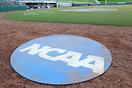 31 May 2016: NCAA logoed on deck circle. The Nova Southeastern University Sharks played the Lander University Bearcats in Game 8 of the 2016 NCAA Division II College World Series  at Coleman Field at the USA Baseball National Training Complex in Cary, North Carolina. Nova Southeastern won the game 12-1.