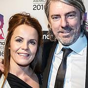 NLD/Hilversum/20160215 - Buma Awards 2016, Ruud de Wild en partner Ilse Knijn