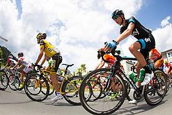 02.07.2013, Osttirol, AUT, 65. Oesterreich Rundfahrt, 3. Etappe, Heiligenblut - Matrei in Osttirol, im Bild Sergio Pardilla Bellon (ESP, MTN – QHUBEKA), Joseph Lloyd Dombrowski (USA, SKY Procycling GBR) // during the 65 th Tour of Austria, Stage 3, from Heiligenblut to Matrei, Tyrol, Austria on 2013/07/02. EXPA Pictures © 2013, PhotoCredit: EXPA/ Johann Groder