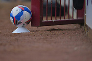 A disinfected Mitre Delta Max during the Pre-Season Friendly match between Scunthorpe United and Doncaster Rovers at Glanford Park, Scunthorpe, England on 15 August 2020.