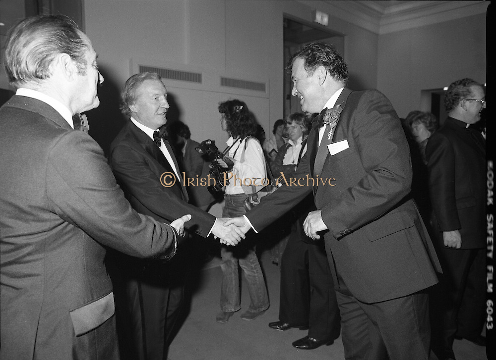 State Opening Of The National Concert Hall. (N92)..1981..09.09.1981..9th September 1981..The President ,Dr Patrick Hillery, officially opened the new National Concert Hall,Earlsfort Terrace, Dublin. The state opening was followed by the premier concert performed by the Radio Telefís Eireann Symphony Orchestra with a large cast of soloists, choirs and the RTESO leader Audrey Park and conducted by RTE's Principal conductor Colman Pearce.