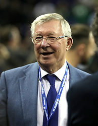 Sir Alex Ferguson in the crowd during the NBA London Game 2018 at the O2 Arena, London. PRESS ASSOCIATION Photo. Picture date: Thursday January 11, 2018. See PA story BASKETBALL London. Photo credit should read: Simon Cooper/PA Wire. RESTRICTIONS: Editorial use only, No commercial use without prior permission