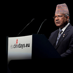 20101206 - Brussels , Belgium - European Development Days - Opening Ceremony - Madhav Kumar Nepal , Prime Minister of Nepal, Chair of the 49-Nation Least Developed Countries Group at the United Nations © European Union - Scorpix