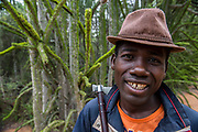 Man & Octopus tree (Didierea trollii) <br /> South Madagascar<br /> MADAGASCAR