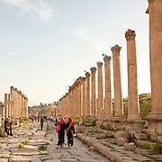 Ruins of the Forum at the Roman city Gerasa near Jerash, Jordan