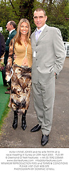 Actor VINNIE JONES and his wife TANYA at a race meeting in Surrey on 25th April 2003.PJD 89