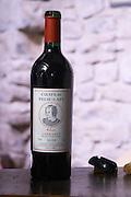 Red wine 2004 cuvee Alix. Chateau Pech-Latt. Near Ribaute. Les Corbieres. Languedoc. France. Europe. Bottle.