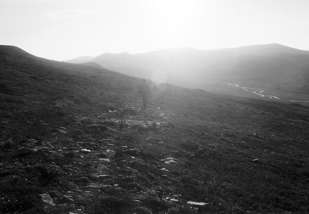 Fjällvandring i Rondane, Norge.