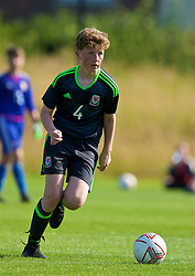 WREXHAM, WALES - Monday, July 22, 2019: Joseph Nelson of North during the Welsh Football Trust Cymru Cup 2019 at Colliers Park. (Pic by Paul Greenwood/Propaganda)