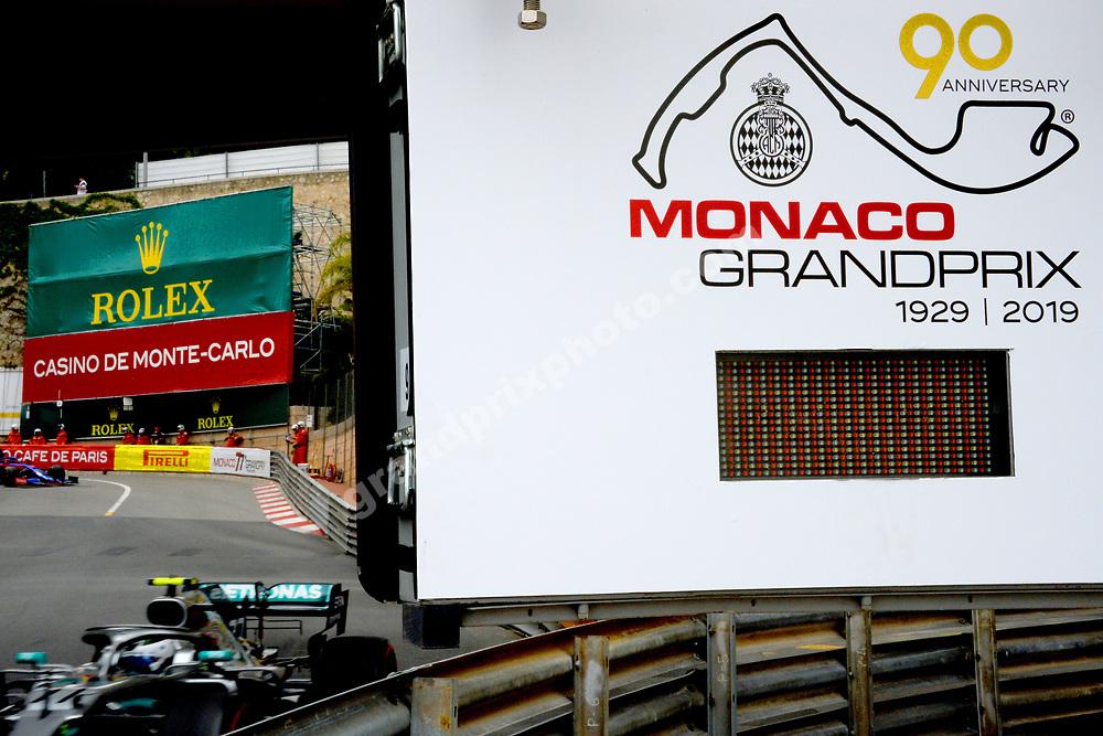 Valtteri Bottas (Mercedes) during practice before the 2019 Monaco Grand Prix. Photo: Grand Prix Photo