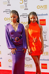 March 30, 2019 - Los Angeles, California, USA - LOS ANGELES, CA - MAR 29: Chloe Bailey and Halle Bailey attend the 50th NAACP Image Awards Non-Televised Dinner at The Berverly Hilton on March 29 2019 in Los Angeles CA. Credit: CraSH/imageSPACE/MediaPunch (Credit Image: © Imagespace via ZUMA Wire)