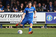 AFC Wimbledon midfielder Dean Parrett (18) crossing the ball during the EFL Sky Bet League 1 match between AFC Wimbledon and Scunthorpe United at the Cherry Red Records Stadium, Kingston, England on 7 April 2018. Picture by Matthew Redman.