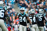 December 24, 2016: Carolina Panthers vs Atlanta Falcons. Bradberry, James