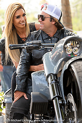 Carol and Rodrigo Della Casa of Brazil with their custom 2015 Harley-Davidson Road King with Metalsport Wheels at the Perewitz Paint Show at the Broken Spoke Saloon during Daytona Beach Bike Week, FL. USA. Wednesday, March 13, 2019. Photography ©2019 Michael Lichter.