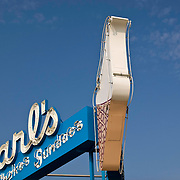 The sign above Carl's Ice Cream in Fredericksburg, VA.