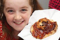 Girl with jam tart