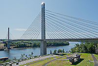 The Penobscot narrows bridge and Maine Observatory,Prospect,Maine.