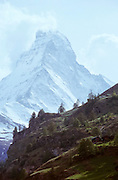 The Matterhorn seen from Zermatt.