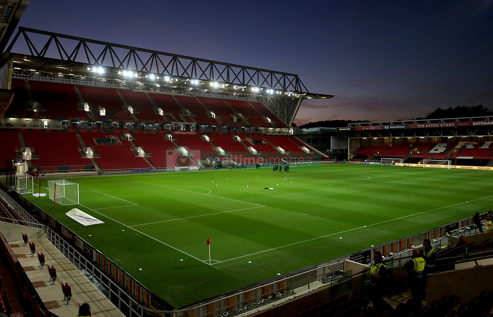 A general view of the pitch before the match