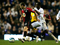 Photo: Tom Dulat.<br /> <br /> Tottenham Hotspur v Blackburn Rovers. The FA Barclays Premiership. 28/10/2007.<br /> <br /> David Bentley of Blackburn Rovers and Didier Zokora of Tottenham Hotspur with the ball.