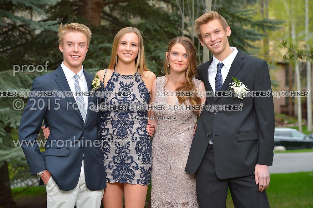 Vail Mountain School Prom Night; Trevor Shelden, Lainey Bailey, Kristen Vossler, Dylan Cunningham