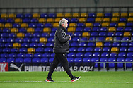 AFC Wimbledon manager Glyn Hodges walking off pitch during the EFL Sky Bet League 1 match between AFC Wimbledon and Bristol Rovers at Plough Lane, London, United Kingdom on 5 December 2020.