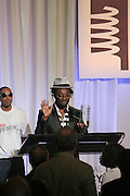 """Will.i.am and Chris """"Ludacris"""" Bridges at the 11th Annual Webby Awards  held at Cipriani's Downtown on June 10, 2008"""